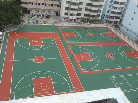 betvlctor伟德登陆硅PU篮球场建设